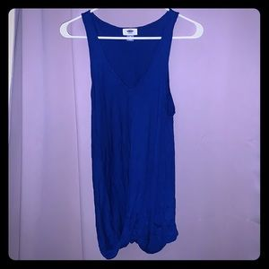 Old Navy Medium Twisted Drape Racer Royal Blue